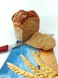 Fresco, redondo, pan en el fondo blanco foto de archivo