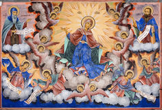 Fresco of Rila Monastery in Bulgaria Royalty Free Stock Photography