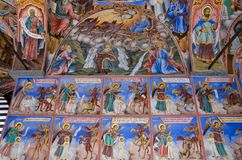 Fresco of Rila Monastery in Bulgaria Royalty Free Stock Photo