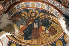 Fresco,rock church in Cappadocia, Turkey, Middle East Stock Photography