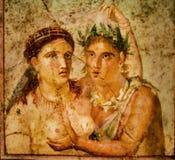 Fresco romano de Pompeii foto de stock