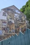 Fresco on Rue du Petit Champlain from Old Quebec City in Canada Stock Image