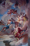 Fresco in Sacro Monte, Unesco Stock Photo