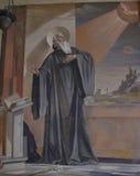 Fresco of Saint Benedict Royalty Free Stock Photography