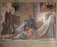 Fresco of Saint Benedict Stock Image
