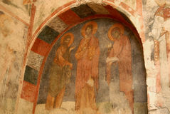 Fresco of Saint Nicholas Church (Turkey) Royalty Free Stock Image