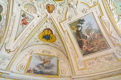 Fresco in Senat, Prague Royalty Free Stock Photography