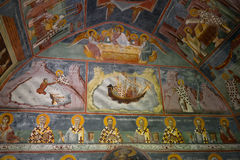Fresco at small church, Moraca Monastery, Montenegro Royalty Free Stock Photos