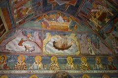 Fresco at small church, Moraca Monastery, Montenegro Royalty Free Stock Photos