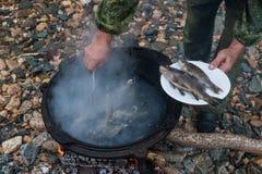 Fresco-sopa deliciosa dos peixes Fotos de Stock Royalty Free