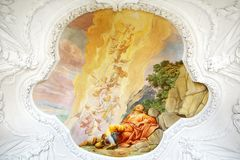 Fresco in St. Peter and Paul Church in Melk Abbey royalty free stock photo