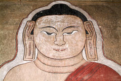 Fresco on Sulamani temple at the archaeological site of Bagan Stock Image