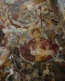 Fresco from Sumela Monastery. Old fresco from Sumela Monastery (Turkey): the Virgin Mary and Jesus Christus royalty free stock photo