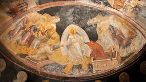 Jesus, Adam and Eve Fresco In Kariye Museum, Istanbul Royalty Free Stock Images