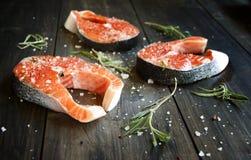 Fresco um salmão fotos de stock royalty free