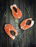 Fresco um salmão fotografia de stock