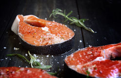 Fresco um salmão foto de stock royalty free