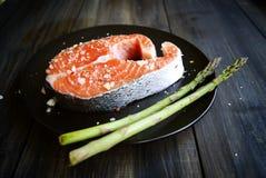Fresco um salmão imagens de stock royalty free