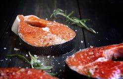 Fresco un salmone Fotografia Stock Libera da Diritti