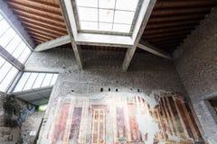 Fresco in villa oplontis Stock Images