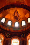 Fresco of Virgin Mary and Jesus, interior of Hagia Sophia Royalty Free Stock Photo
