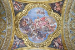 The fresco of virtue Charity Royalty Free Stock Images
