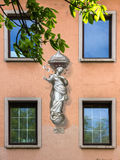 Fresco on a wall in Wurzburg, Germany. Stock Image