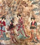 Frescoe στον τάφο Liao του mont Bao, σε Chifeng, Μογγολία, Κίνα Στοκ φωτογραφία με δικαίωμα ελεύθερης χρήσης