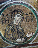 Frescoe antico in san Sophia Cathedral, Kiev, Ucraina Fotografia Stock Libera da Diritti