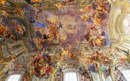 Frescoe för Sant Ignazio kyrkatak, Rome, Italien Royaltyfri Bild
