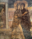 Frescoe in Heilige Sophia Cathedral, Kiev, de Oekraïne Stock Foto