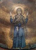 Frescoe i helgonet Sophia Cathedral, Kiev, Ukraina Arkivfoton