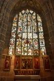 Frescoed окно Lorenzkirche в Нюрнберге Стоковая Фотография