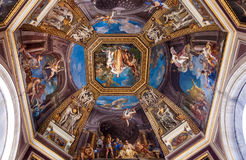 Frescoed ceiling in the Hall of the Muses. Vatican Museums. Frescoes on the vaulted ceiling in the Hall of the Muses, Pio Clementino Museum Royalty Free Stock Photography