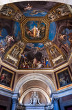 Frescoed ceiling in the Hall of the Muses Royalty Free Stock Images