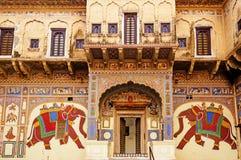 Frescoed Havelis in Mandawa, traditional ornately Stock Photo