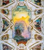 Frescoed valv av Federico Spoltore i kyrkan av den Gesà ¹en i Palermo italy sicily royaltyfri fotografi