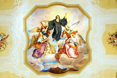 Frescoen i St Peter och Paul kyrktar i den Melk abbeyen Fotografering för Bildbyråer