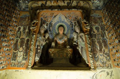 Frescoes(Mogao Caves ) royalty free stock photography