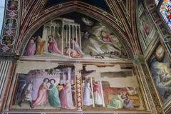 Frescoes bazylika Santa Croce w Florencja, Włochy Fotografia Royalty Free