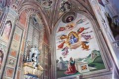 Frescoes bazylika Santa Croce w Florencja, Włochy Zdjęcia Stock