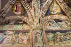 Frescoes bazylika Santa Croce w Florencja, Włochy Obraz Royalty Free