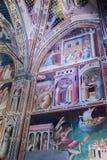 Frescoes bazylika Santa Croce w Florencja, Włochy Zdjęcie Royalty Free