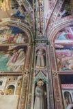 Frescoes bazylika Santa Croce w Florencja, Włochy Obrazy Royalty Free