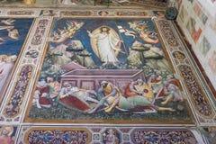 Frescoes bazylika Santa Croce w Florencja, Włochy Zdjęcie Stock