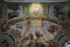 Frescoes in the cathedral of Syracuse Royalty Free Stock Images