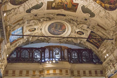 Frescoes on the ceiling of Museo dell`Opera Metropolitana del Duomo, Siena, Tuscany, Italy. Stock Photos