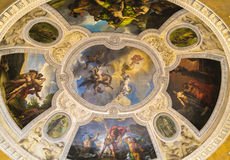 Frescoes on the ceiling Stock Images