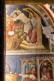 Frescoes in Chapel Alighieri in Chiesa San Fermo Royalty Free Stock Image