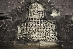 The frescoes in the church Angor Wat. Cambodia. Stock Images